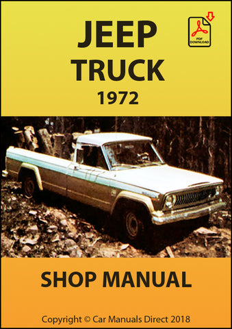 JEEP Truck 1972 Shop Manual | carmanualsdirect