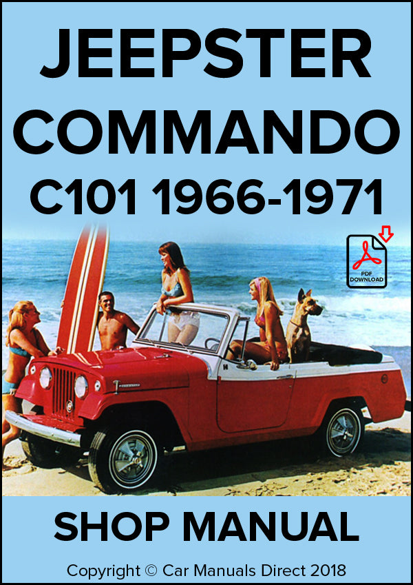 JEEPSTER Commando 1966-1971 Shop Manual| carmanualsdirect