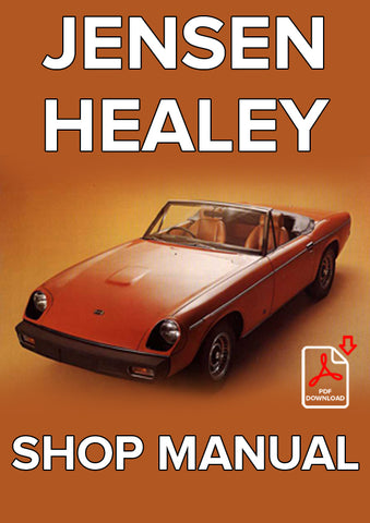 JENSEN Healey 1972-1975 Shop Manual | carmanualsdirect