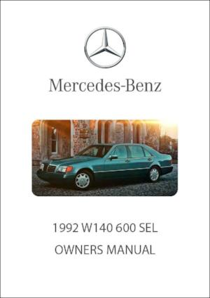MERCEDES BENZ W140 600 SEL 1992 Owners Manual - FREE