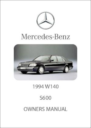 MERCEDES BENZ W140 S600 1994 Owners Manual - FREE