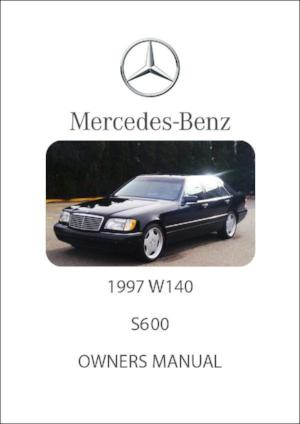 MERCEDES BENZ W140 S600 1997 Owners Manual - FREE