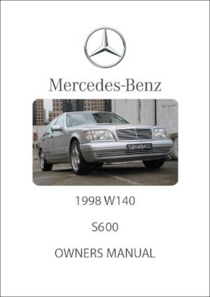 MERCEDES BENZ W140 S600 1998 Owners Manual - FREE