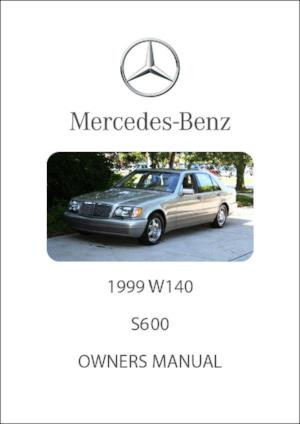 MERCEDES BENZ W140 S600 1999 Owners Manual - FREE