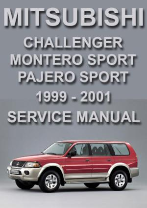 MITSUBISHI Challenger, Pajero Sport, Montero Sport 1999-2001 Workshop Manual | carmanualsdirect
