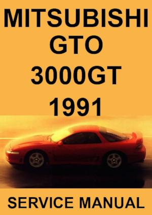 MITSUBISHI GTO & 3000 GT 1991 Workshop Manual