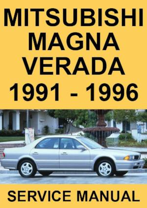 MITSUBISHI Magna and Verada 1991-1996 Workshop Manual