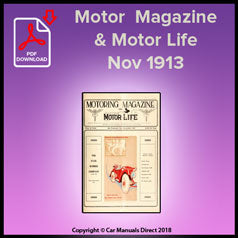 Motor Magazine & Motor Life November 1913 Volume V Number 5