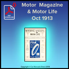 Motor Magazine & Motor Life October 1913 Issue