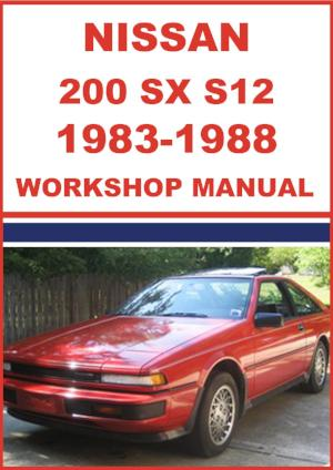 NISSAN 200 SX S12 Series 1983-1988 Workshop Manual | carmanualsdirect