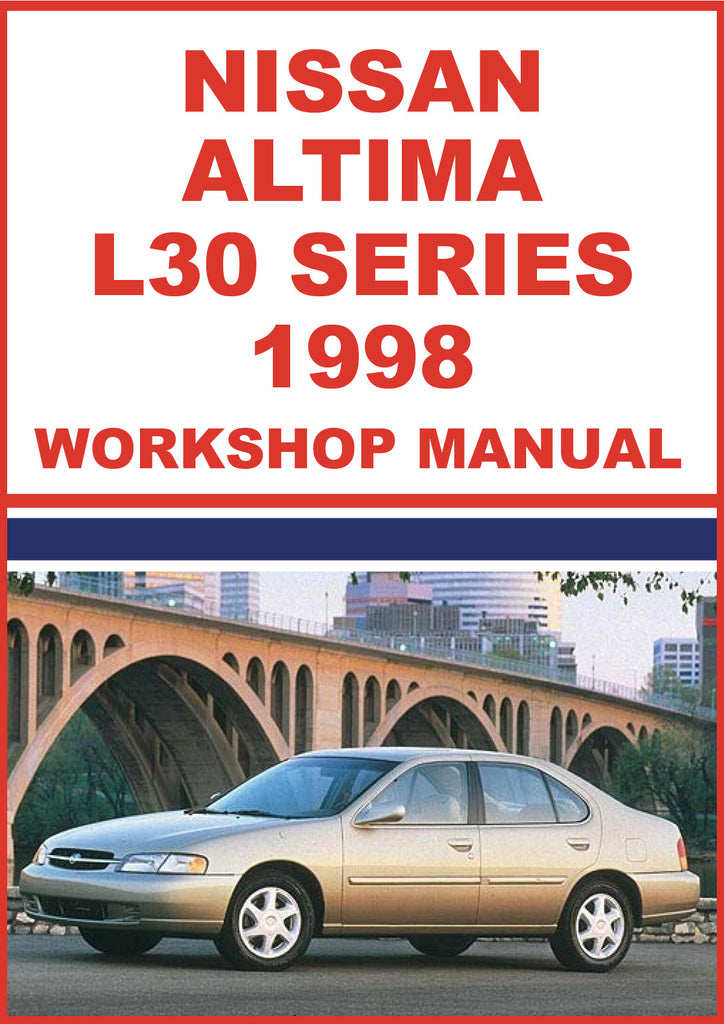NISSAN Altima L30 Series 1998 Workshop Manual | carmanualsdirect