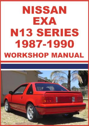 NISSAN EXA N13 Series 1987-1990 Workshop Manual | carmanualsdirect