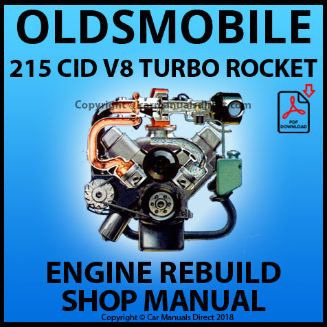 OLDSMOBILE 215 CID V8 Jetfire Turbo Rocket Engine Rebuild Manual | carmanualsdirect