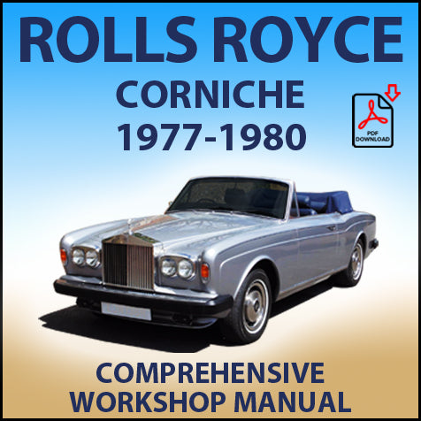 ROLLS ROYCE Corniche Coupe & Convertible 1977-1980 Workshop Manual | carmanualsdirect
