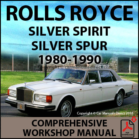 ROLLS ROYCE Silver Spirit and Silver Spur 1980-1988 Factory Workshop Manual | carmanualsdirect