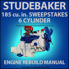 STUDEBAKER 185 cu in 6 Cylinder 1956-1958 Rebuild Overhaul Manual | carmanualsdirect