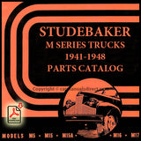 Studebaker M Series 1941-1948 M5, M15, M15A, M16, M17 Truck Spare Parts Catalog | carmanualsdirect