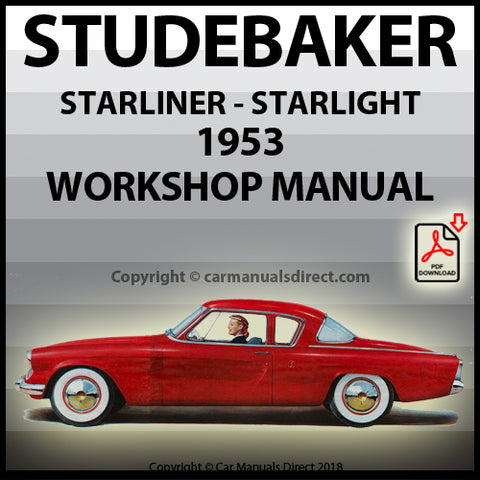 STUDEBAKER Starlight and Starliner Coupe 1953 Shop Manual | carmanualsdirect