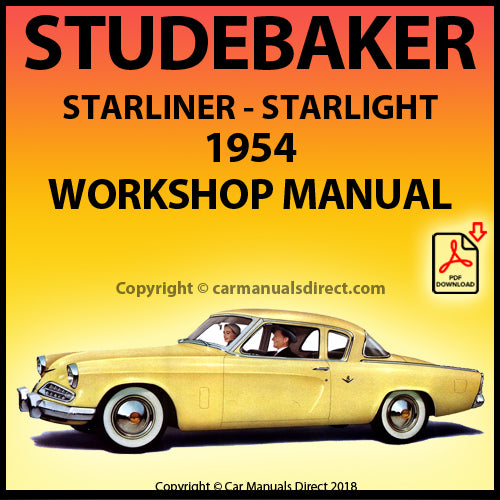 STUDEBAKER Starlight and Starliner Coupe 1954 Shop Manual | carmanualsdirect