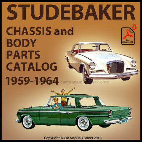 STUDEBAKER Lark and Hawk 1959-1964 Spare Parts Catalog | carmanualsdirect