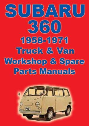 SUBARU 360 Van & Pick Up 1958-1971 Workshop Manual