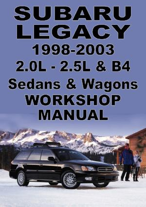 SUBARU Legacy 1998-2003 Workshop Manual