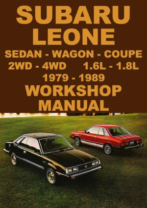 SUBARU Leone 1979-1989 Workshop Manual
