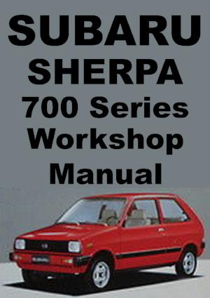 SUBARU Sherpa 700 1981-1985 Workshop Manual