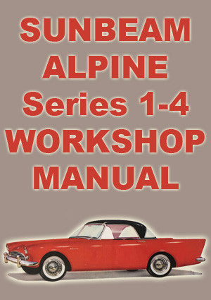 SUNBEAM Alpine Series 1-4 1959-1965 Workshop Manual