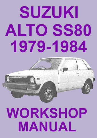 SUZUKI Alto SS80 1979-1984 Workshop Manual