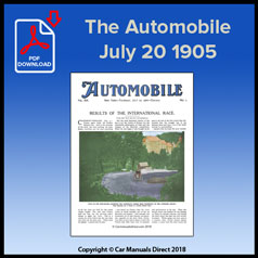 The Automobile July 20 1905 Volume VIII Number 3