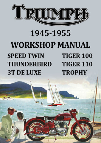 Triumph Tiger, Thunderbird, Trophy & Speed Twin 1945-1955 Workshop Manual