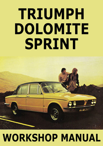 TRIUMPH Dolomite Sprint Workshop Manual