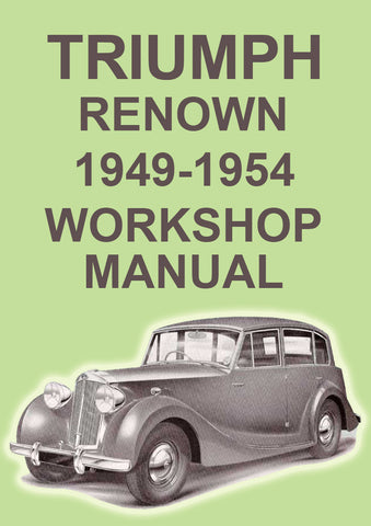 TRIUMPH Renown 1946-1954 Workshop Manual