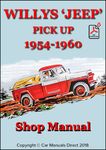 WILLYS Jeep Pick Up 1954-1960 Shop Manual | carmanualsdirect