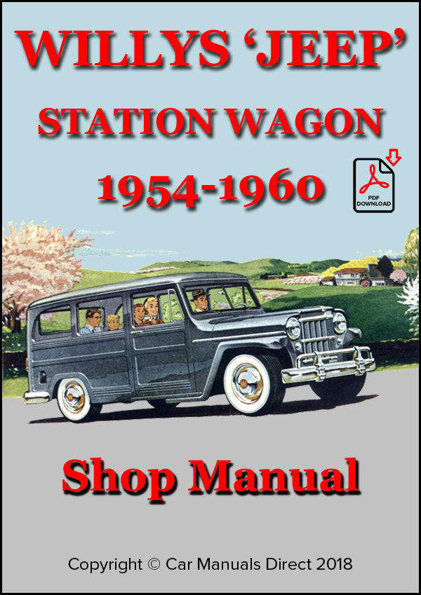 WILLYS Jeep Station Wagon 1954-1960 Shop Manual| carmanualsdirect