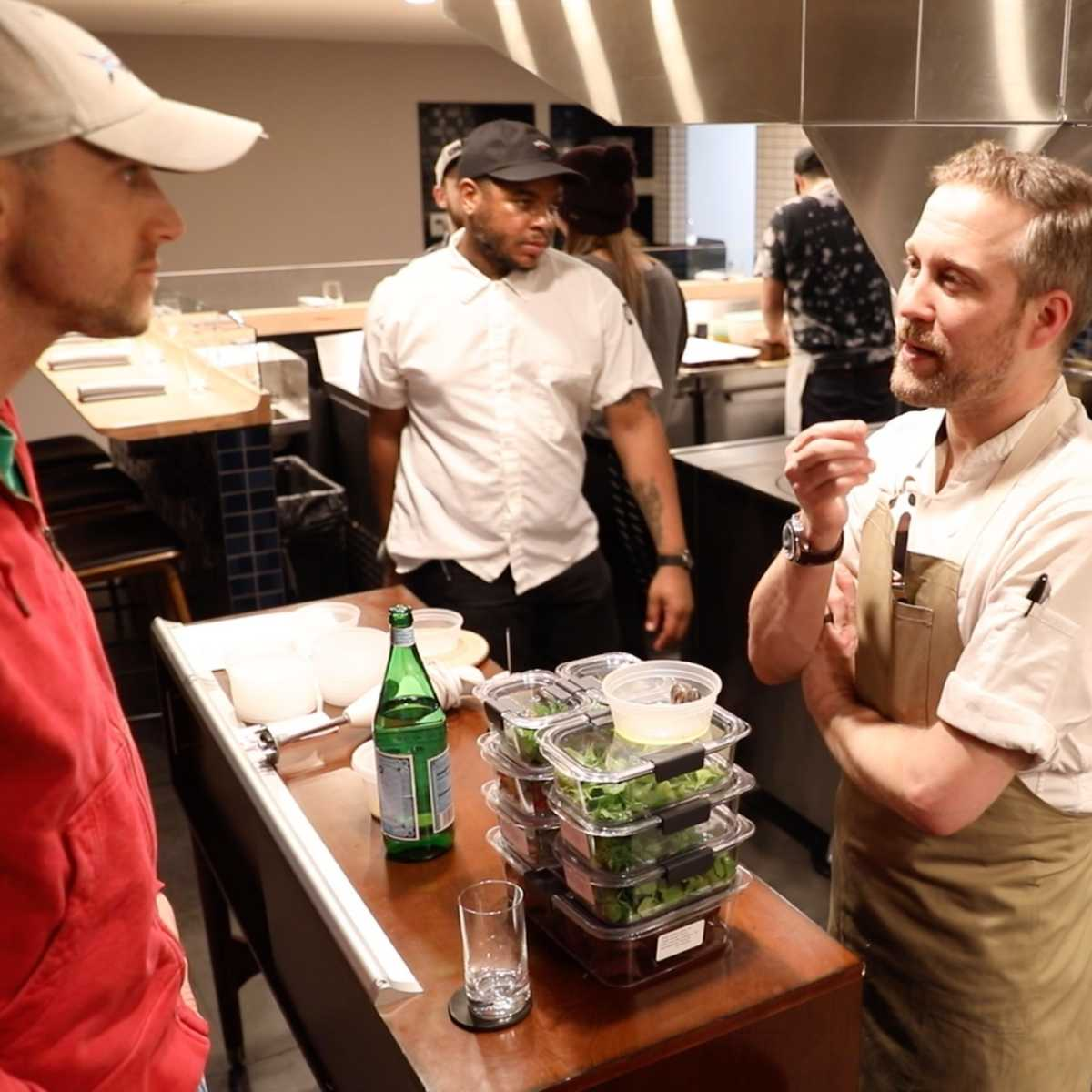Selling microgreens to chefs.