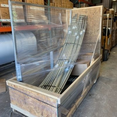 freight packaged in box on pallet