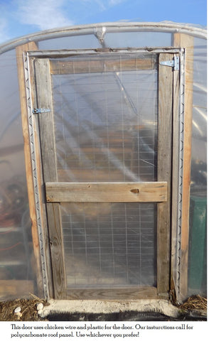 After your door is installed place your lock channel around the frame of your door. & How to Build A Greenhouse - Free Greenhouse Plans - Bootstrap Farmer
