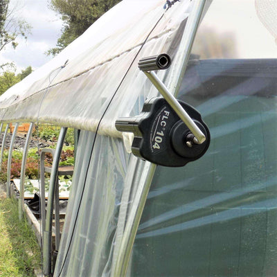 Greenhouse Ventilation Crank Roll Up Side Curtains Bootstrap Farmer