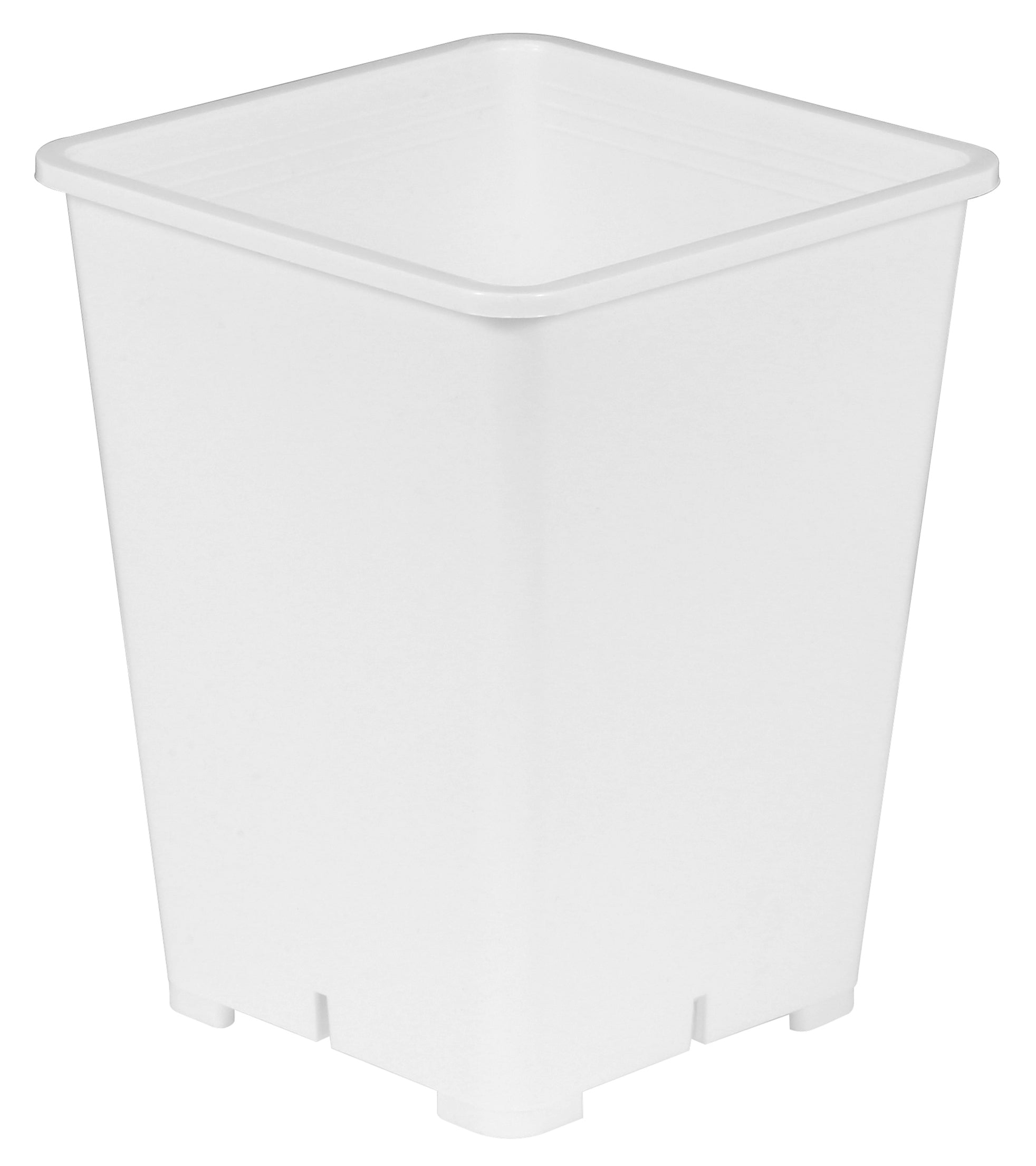 Reusable Square White Plastic Planters