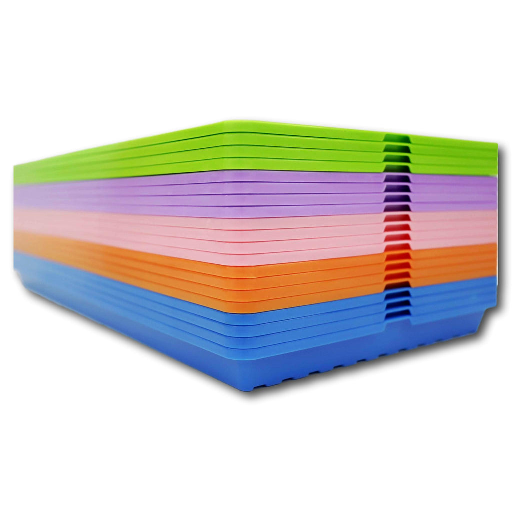 Stack of 1020 Shallow Microgreen Trays in Colors