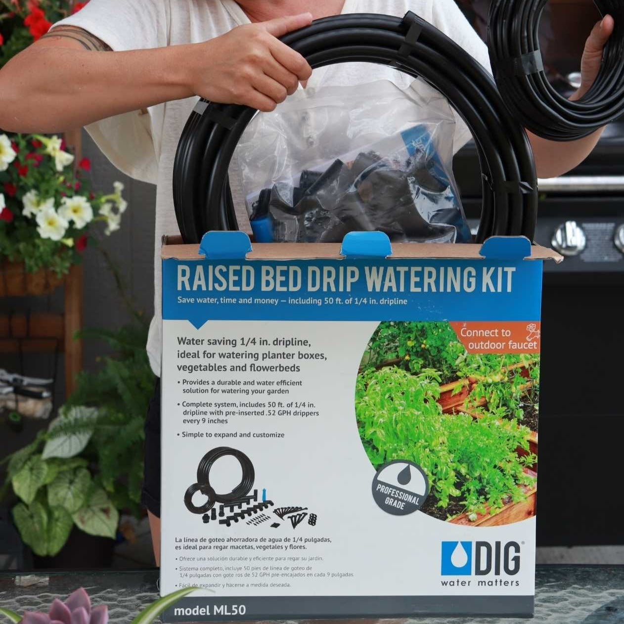 Watering - Raised Bed Drip Irrigation Kit