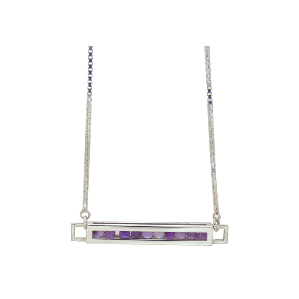 Flow necklace silver amethyst
