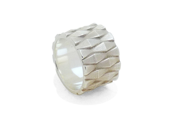 Wave Ring Large Zilver