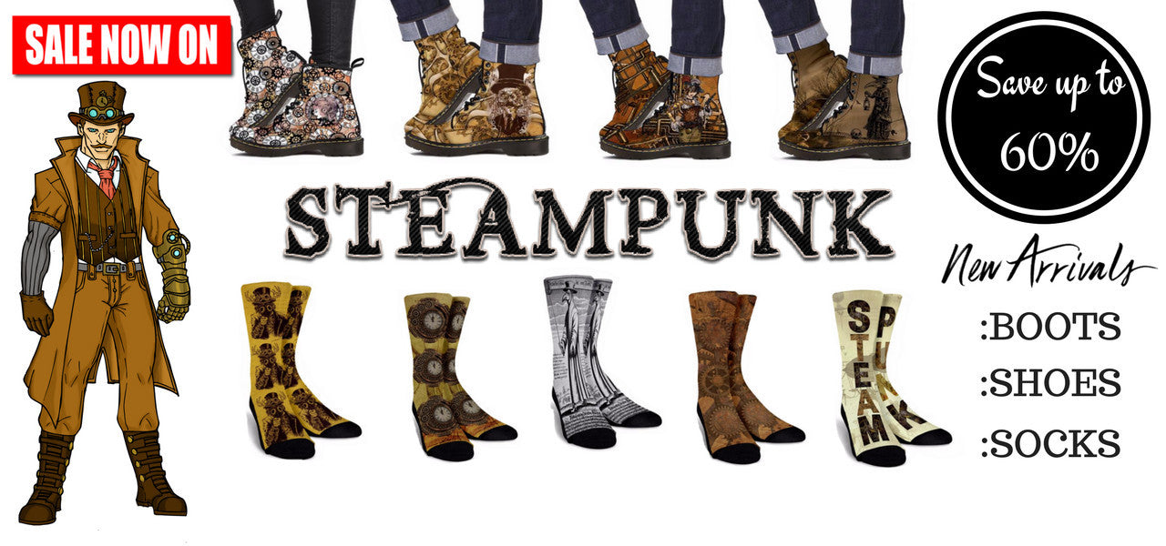 New Arrivals - Steampunk Socks - Special Promotional Sale Now On!