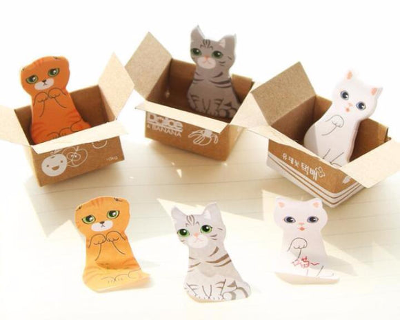 Mini-Cat Post-It Notes in Cute Display Box--Five Styles