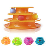 Crazy Ball Disk Interactive Amusement Plate Turntable Cat Toy