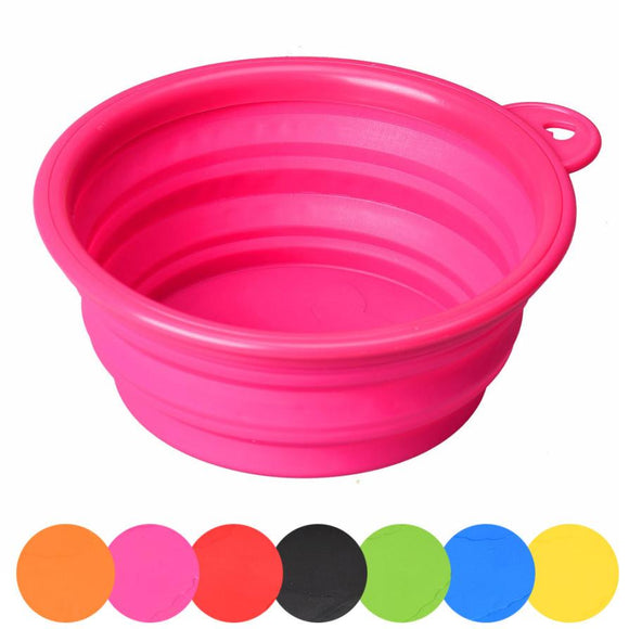 Pet Dog Cat Pet Silicone Collapsible Travel Water Feeding Bowl