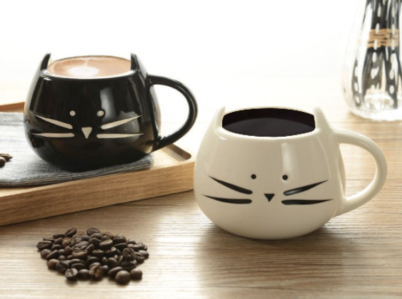 Cat Lovers' Hand-Crafted Ceramic Coffee Mug